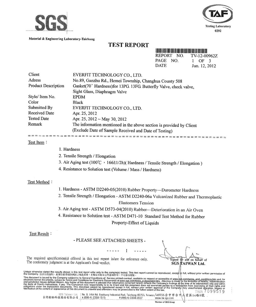 Certification everfit technology co ltd sgs certificate inspection unitsgs taiwan ltd date101425 yadclub Choice Image
